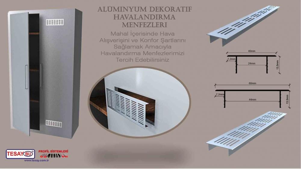 MN-Alüminyum Dekoratif Havalandırma Menfezleri