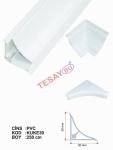 KUKE30 - 30X30 PVC Küvet Kenar Profili (Çift PArça)