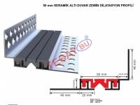 DLTA5020 - 50 mm SERAMİK ALTI DUVAR ZEMİN DİLATASYON PROFİLİ