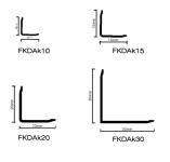 FKDAK -  Parlak Alüminyum L Profil